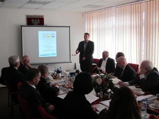 Zarząd Województwa w trakcie prezentacji