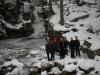 Zimowy trening kajakarzy